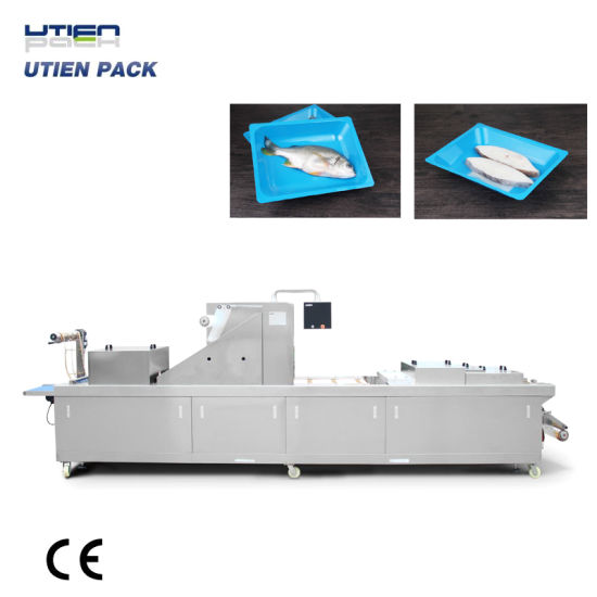 Automatic Thermoform Fresh Fish Vacuum Skin Pack/Packing/Packaging Machine (VSP)