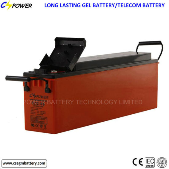 Manufacturer Front Terminal Gel Battery for Telecom FL12-200ah pictures & photos