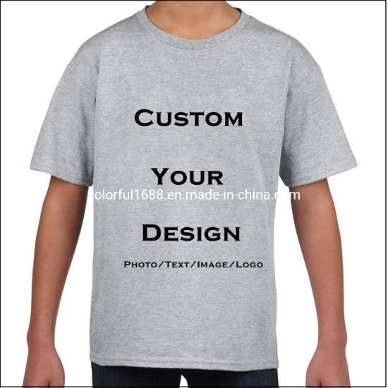 Custom Cotton Boys Tshirt Girls Tee Shirts Kids Clothing Printing Boy Tshirt Children Clothes for Boys Children Wear T-Shirt