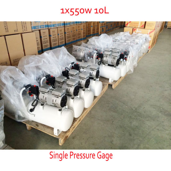 550W 10L 230V Silent Oil Free Screw Air Compressor pictures & photos