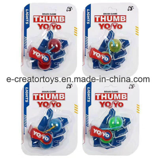 2017 Fidget Thumb Chucks with LED Light Yoyo pictures & photos