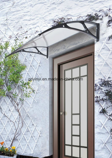 China 100X150cm Outdoor DIY Clear Solid PC Aluminium Awnings YY1000