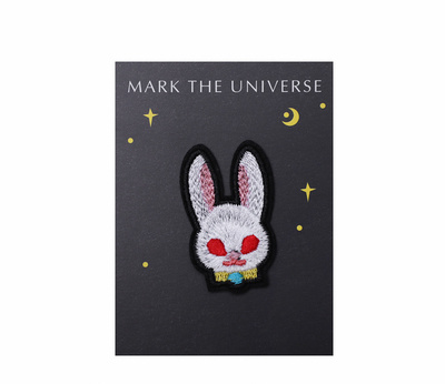 Wholesale Custom Japanese Style Cartoon Rabbit Embroidery Patch for Toy Clothing