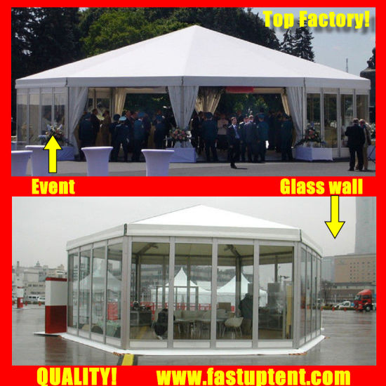 new design white multi side tent for catering diameter 8m 50 people seater guest
