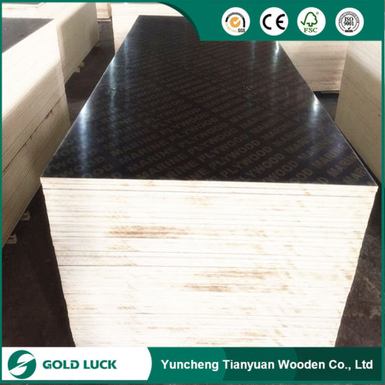 1220 X 2440mm Smooth/Anti-Slip Film Faced Shuttering Plywood for Construction pictures & photos