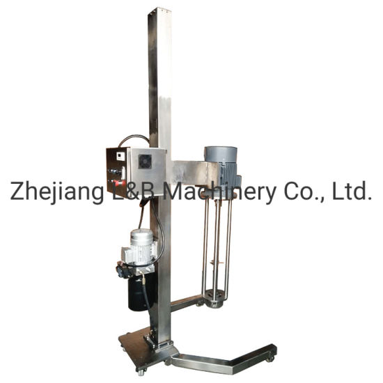 Price of Steel Homogenizer Industrial Emulsifying 3000rpm High Shear Mixer with Hydraulic Lifting
