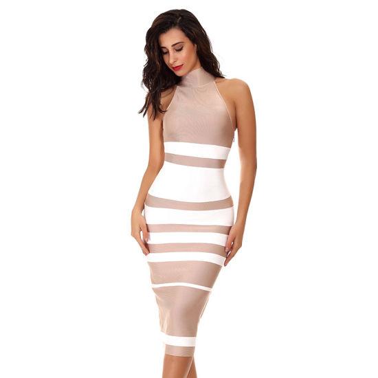 de4801f2ae5 Lady Bandage Dresses Long Dress Black White Bandage Dress Club Wear Tight  Dress