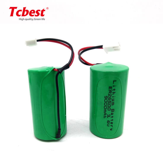 Factory Price OEM High Quality Non-Rechargeable 9000mAh Size Lisocl2 3.6V Lithium Disposable Er26650 Battery for Digital Cameras
