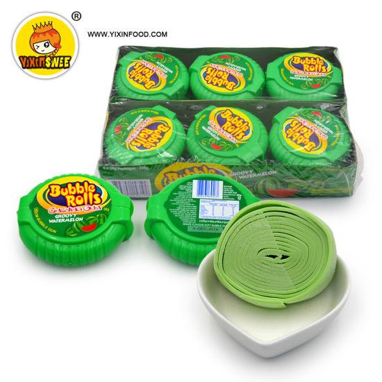FDA Certificated 56g Watermelon Flavor Bubble Gum Roll