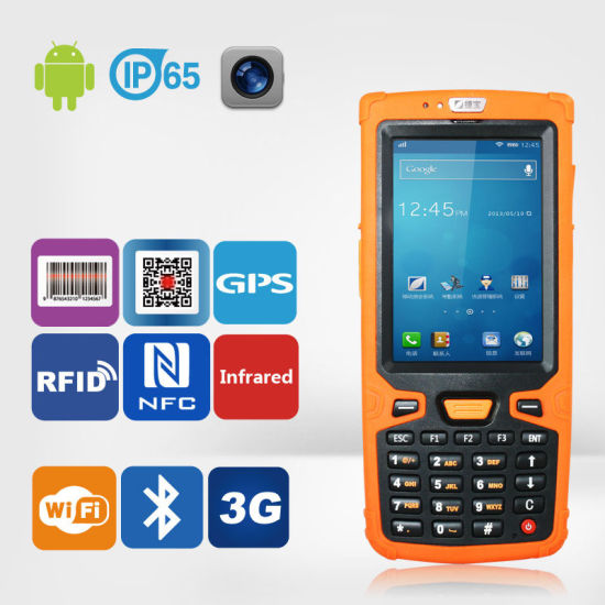 Jepower Ht380A Handheld Quad-Core Rugged PDA Data Collector Support RFID/Barcode Scanner/WiFi/3G/GPS pictures & photos