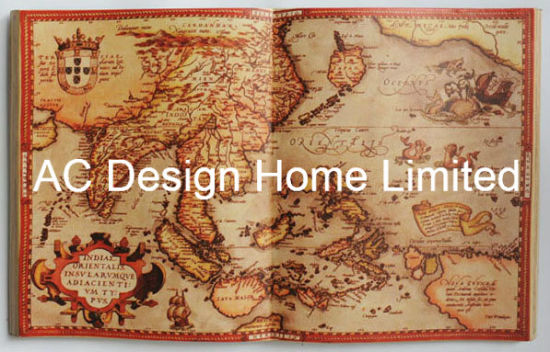 China Antique Old World Map PU Leather/MDF Wooden Book Shape Wall ...