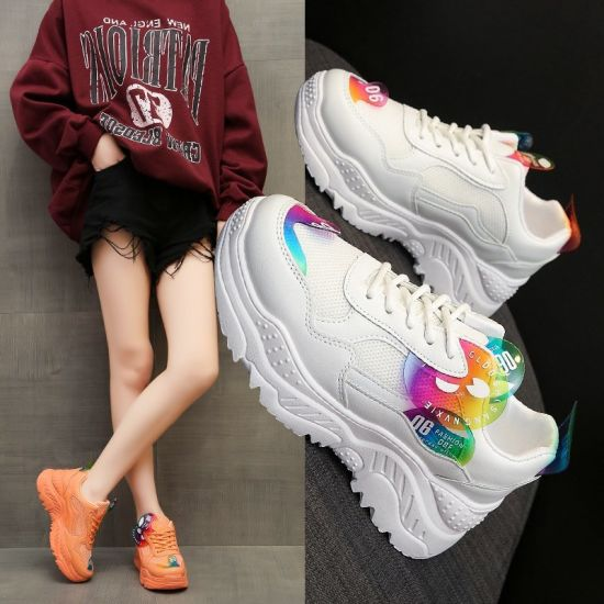 Amazon 2020 New Hot Style Platform Sneaker Woman Aliexpress Large Size Cross-Border Trade Network Face Daddy Shoes Woman