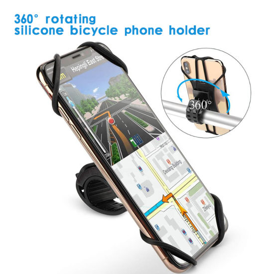 360 Rotating Mobile Phone Stand Motorbike Phone Holder Waterproof Motorcycle Phone Mount Holder Bicycle Bike Cellphone Holder
