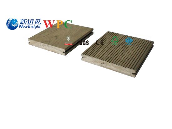 130*18mm Wood Plastic Composite Solid Decking with CE, Fsg SGS, Certificate