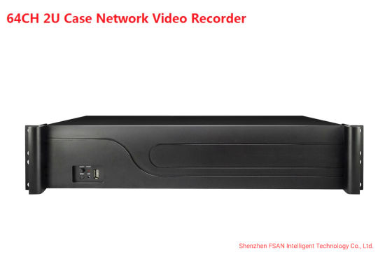 Fsan 64CH 8 Hdds Dual HDMI Full Real-Time Video Recorder Security NVR