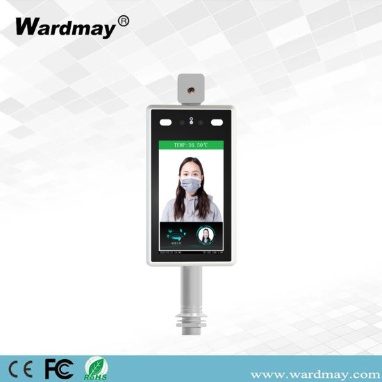 Wardmay Promotional 7 Inch Face Recognition Body Temperature Measurement Access Control Thermometers Camera