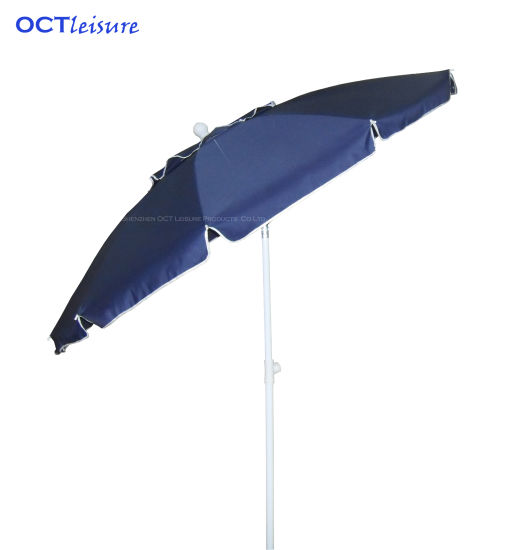 Strong Type Beach Parasol with Thick Cover in Navy Blue (OCT-BUSTU05)