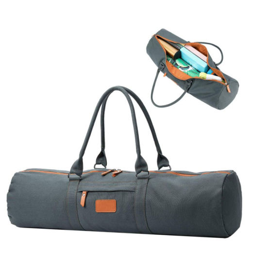 Durable Canvas Travel Sports Multifunction Yoga Bag Carrier with Zipper Pocket