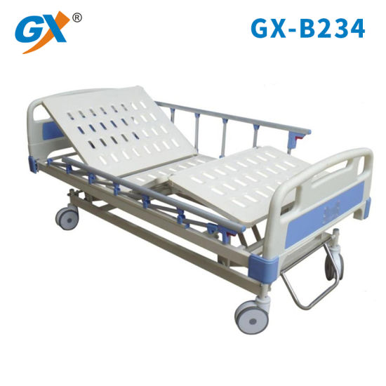 Three Functions Electric Hospital Bed with Aluminum Alloy Guardrail