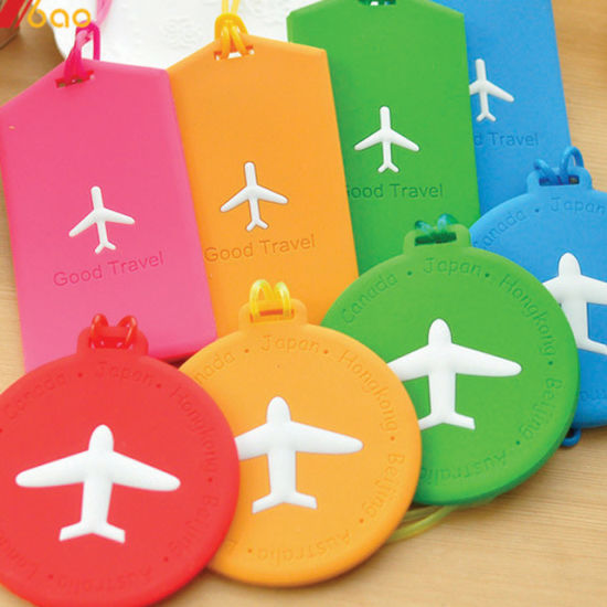 Wholesale Custom Logo Personalized Travel Sublimation Printed 3D PVC Rubber Plastic Silicone Soft Baggage ID Name Luggage Tag for Advertising Gifts (YB-TL-005)
