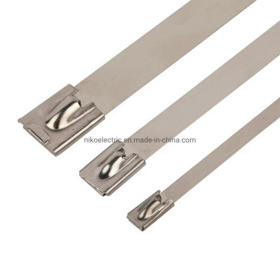 Fire Retardant Metal Material Self-Locking Cable Tie