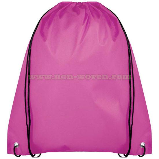 Non Woven Backpack Drawstring Bag 32# Pink