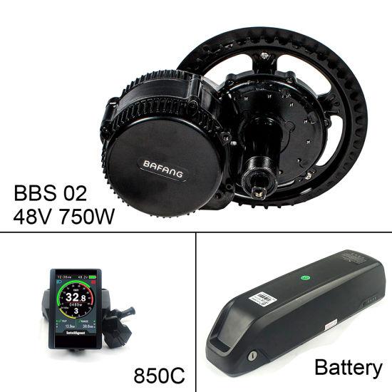 Bafang BBS02 MID Drive Motor E Bike Kit 48V 500W 750W