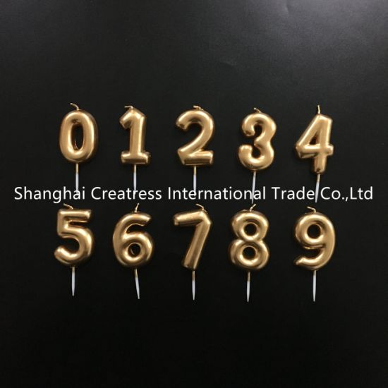 Admirable China 0 To 9 Amazing Birthday Cake Number Candles In Gold China Birthday Cards Printable Giouspongecafe Filternl