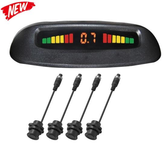Auto Parktronic LED Parking Sensor with 4 Sensors Reverse Backup Car Parking Radar Monitor Detector System Display for Car/Bus/Truck