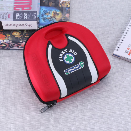 Red Medical Defibrillator Carrying Cases, Emergency Travel EVA First Aid Case