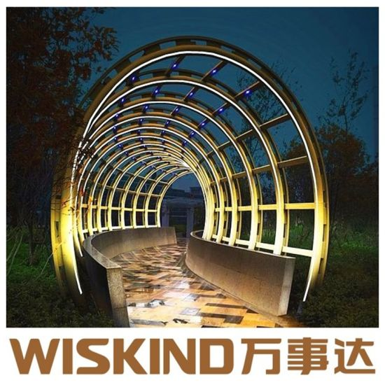 Wiskind Portal Light Steel Prefabricated Building with SGS Beam pictures & photos