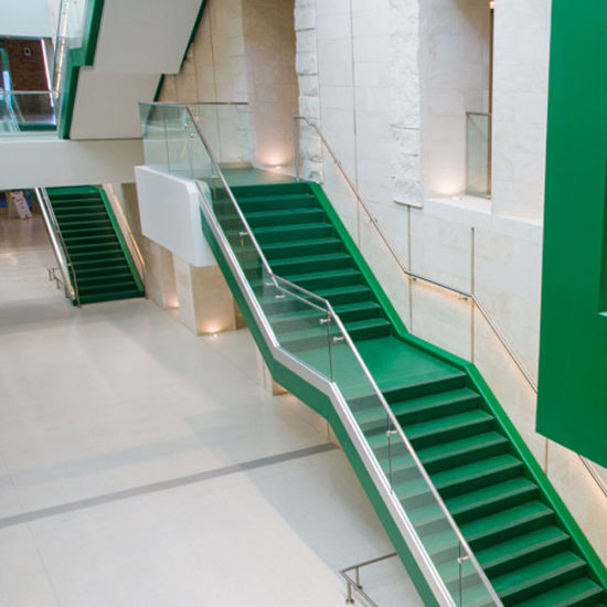 Commercial Customized U Channel Railing Tempered Glass System For Staircase