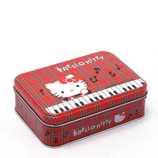 Hello Kitty Tin Cans Metal Box