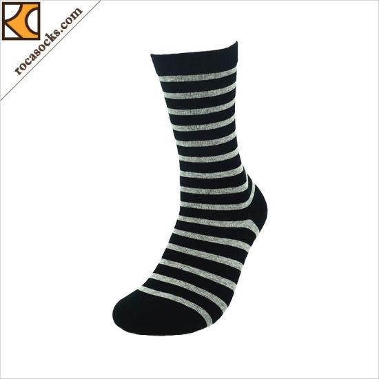 79abbda14 Apparel Custom Stripe Crew Knitted Cotton Business Men Socks (165034SK)