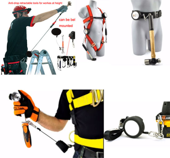 Wholesale Fall Protection Retractable Flexible Tool Safety Lanyards