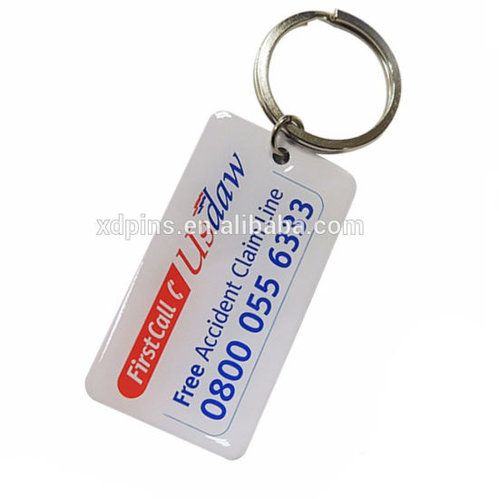 Printing Airplane Logo Key Ring with Epoxy for Gift pictures & photos