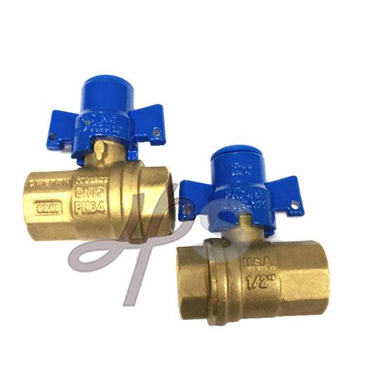 High Quality Brass Lockable Ball Valve with Zinc Alloy Handle
