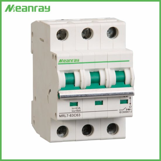 Low Voltage Automatic DC 3 Phase MCB 1000V Circuit Breaker