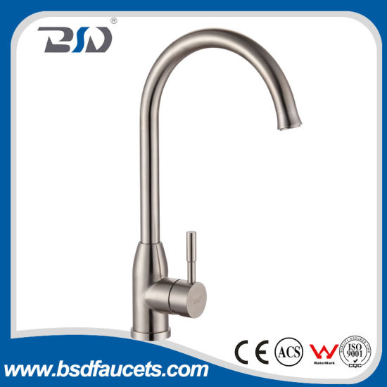 China New Luxury Stainless Steel Lead Free Kitchen Basin Faucet