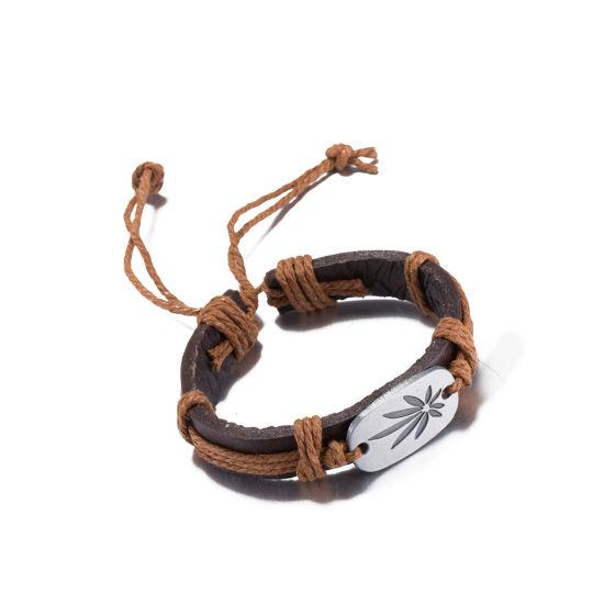 Fashion Design Handmade Women Leather Charm Bracelet Promotion Gift