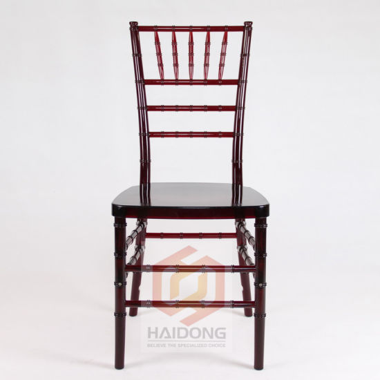 Mahogany Stacking PC Resin Sillas Tiffany Chiavari for Wedding Event pictures & photos