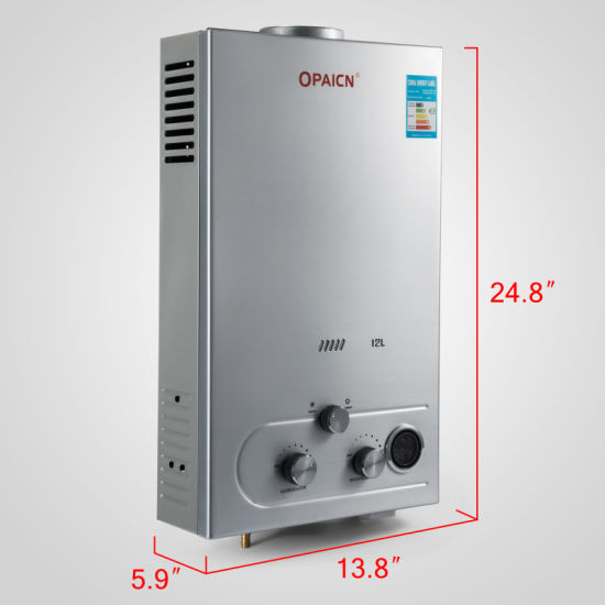 China 24kw 12L LPG Gas Water Heater Stainless Instant Boiler - China ...