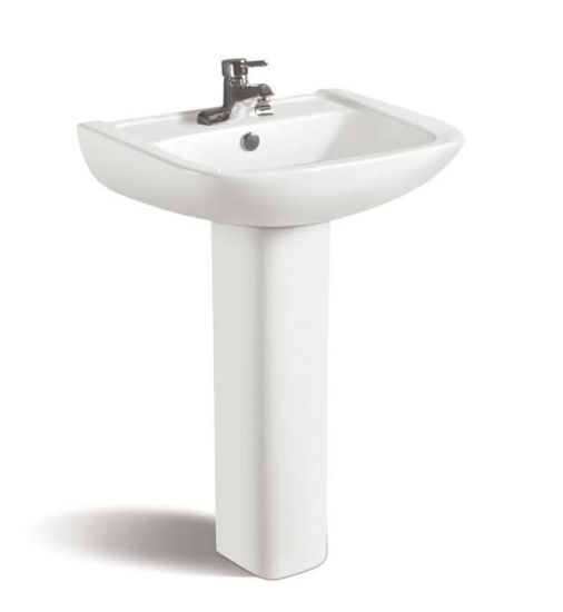 Ceramic Pedestal Sink (No. P01)