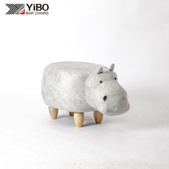 Children Like Hippo Shape Animal Stool or Ottoman Made in Zhejiang