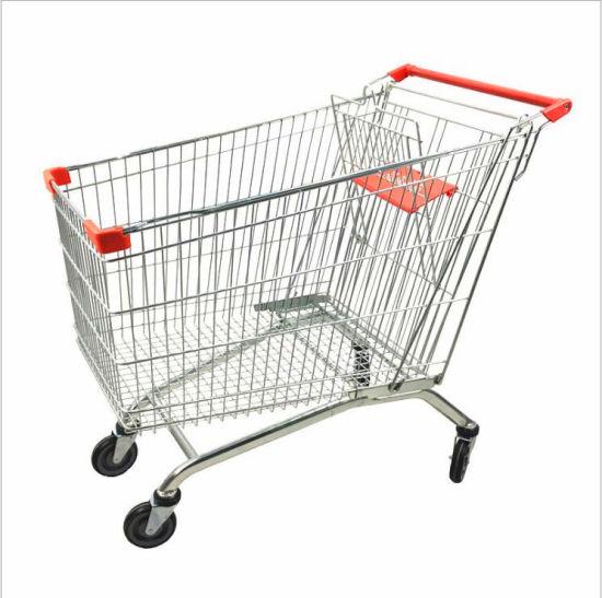 European Best Seller Supermarket Shopping Trolley Cart 210L