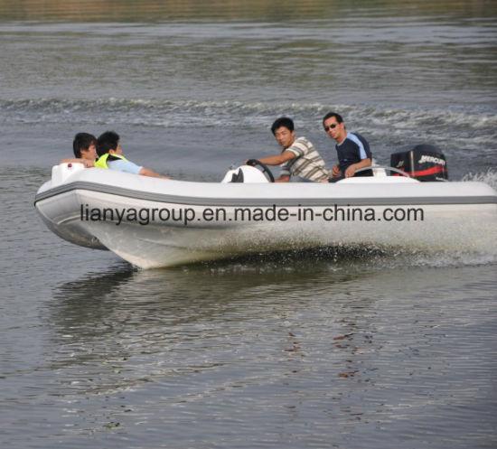 Liya 4.3m Luxury Yacht Tenders Hypalon Rib Boat for Sale