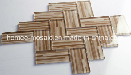 China Wholesale Printing Wood Look Glass Mosaic Tiles - China ...
