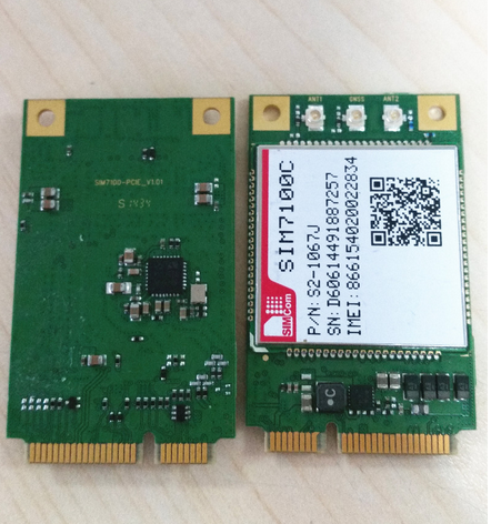 Wireless Module SIM7100c with Qualcomm Mdm9215 Multiple-Mode Lte Platform