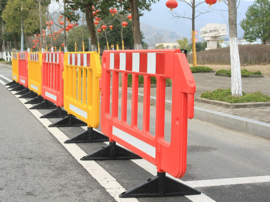 China 1950mm Red/Yellow Temporary Road Safety Traffic Fence