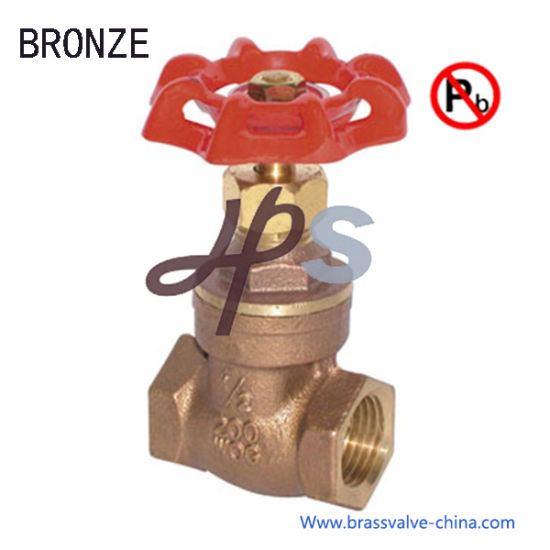 China NSF Approved Lead Free Bronze Casting Gate Valve